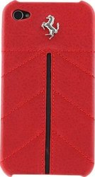MastersClub Ferrari Leather Hard Case for iPhone 4/4S - California Red