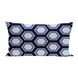 E By Design Hex Appeal Geometric Print Outdoor Seat Cushion - Bewitching