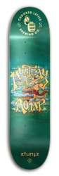 ZtuntZ Skateboards Crooked Letter Brewing Mystery Romp Park Skateboard Deck, Orange/Green/Blue, 8.25 x 31.75-Inch/14.38-Inch WB
