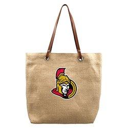 NHL Ottawa Senators Burlap Market Tote, 17 x 4.5 x 14-Inch, Natural
