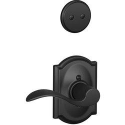 Schlage Accent Lever Right Handed Dummy Interior Pack Deadbolt - Black