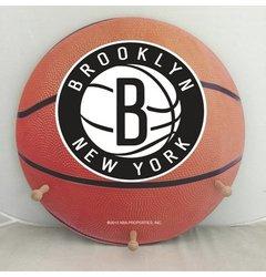 "NBA Brooklyn Nets Basketball Coat Rack with Three Pegs - 15"" - Orange"