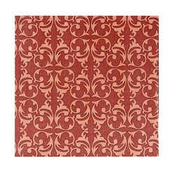 Kiera Grace 20 Count 3-Ply Napkins, Brown Damask Design, Pack of 6