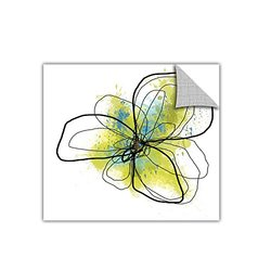 """ArtWall Citron Petals II Removable Graphic Wall Art by Jan Weiss - 36 x36"""""""