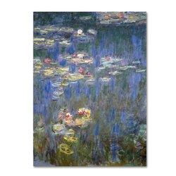 """Trademark Fine Art """"Water Lilies IV 1840-1926'""""Canvas Art - 18"""" x 24"""""""