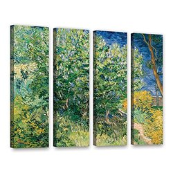"ArtWall 4-Piece 24""x32"" Lilacs by Vincent Van Gogh Gallery-Wrapped Canvas"