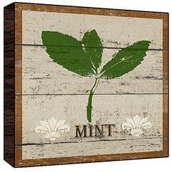 Green Leaf Art Mint Wall Art, Medium