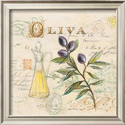 Tuscan Olive Oil by Angela Staehling Framed Art Print - Purple - 17 x 17""
