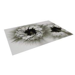 Kess InHouse Skye Zambrana Indoor/Outdoor Floor Mat - Gray Flower - 8x8'