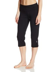 Women's Performance Fitted Yoga Capri Pant - Black - Size: Small 885667