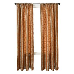 Diplomat Decor Adagio Rod Pocket Panel, 84-Inches, Jasper