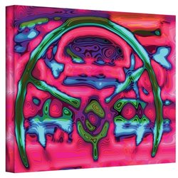 Art Wall APB Studios Steering Wheel Gallery Wrapped Canvas Art, 14 by 18-Inch