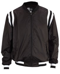 Smitty College Style Full Front Zip Jacket - Black/White - Size: Small
