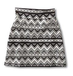 KAVU Women's Paulina Skirt, BW Chevron, Large