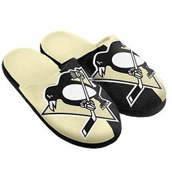 NHL Pittsburgh Penguins Split Color Slide Slipper, X-Large, Black
