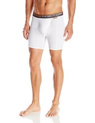 Shock Doctor Men's Ultra Pro Boxer Compression Shorts with Ultra Cup, White, Large