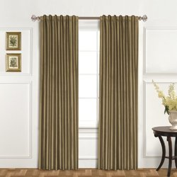 "United Curtain Co. Dupioni Silk Window Panel - 42"" x 84 Taupe"