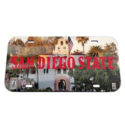 NCAA San Diego State Aztecs Crystal Mirror License Plate, 6 x 12""
