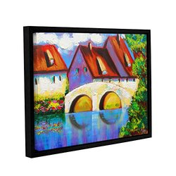 "ArtWall 18""x24"" ""German Village on Rhine"" Gallery Wrapped Canvas Art"