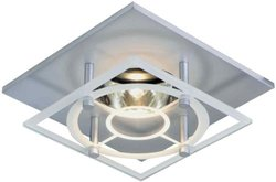 Halo Recessed 3018SGSC 3-Inch Square Etched Glass, Satin Chrome