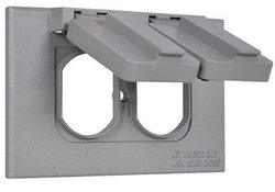 Hubbell Electrical 1C-DH-AL Single Gang Flip Cover Gray