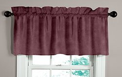 Made in the USA 100% Cotton Velvet Tailored Valance, Berry by Veratex