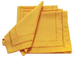 Double Hemstitch Easy-Care Napkins - Gold - Set of 4