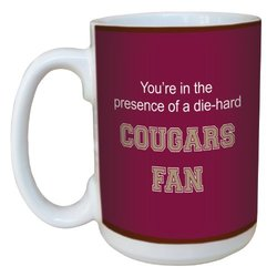 Tree-Free Greetings lm44664 Cougars College Basketball Ceramic Mug with Full-Sized Handle, 15-Ounce