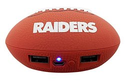 NFL Oakland Raiders Phone Charger, One Size, Brown