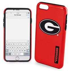 NCAA Georgia IPhone 6 Plus Dual Hybrid Case (2 Piece), Red