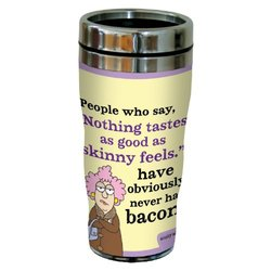 "Tree-Free Greetings sg23814 Hilarious Aunty Acid ""Tastes Like Bacon"" by The Backland Studio Ltd. 16 Oz Sip 'N Go Stainless Steel Lined Tumbler"