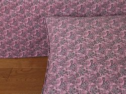 Donna Sharp Mauvelous Cotton Twin Gathered Bedskirt, Rose Damask