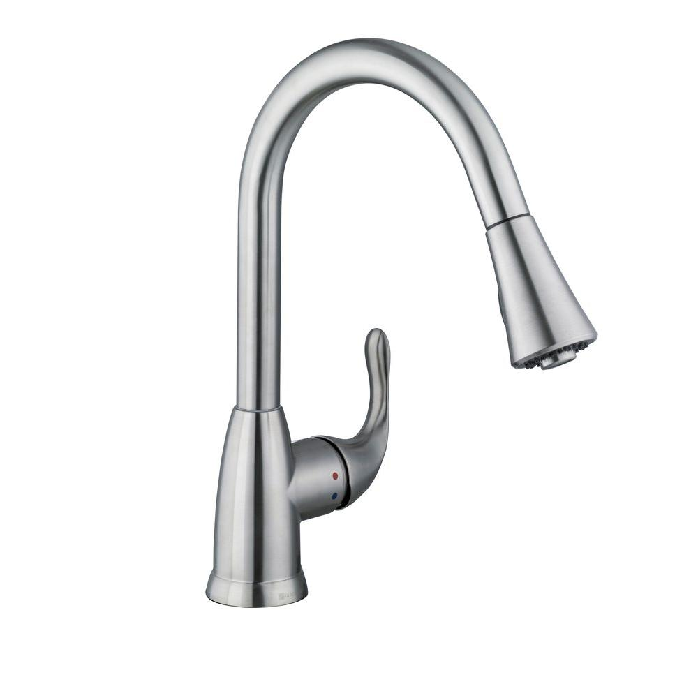 Glacier Bay  Market Pull Down Kitchen Faucet Stainless Steel