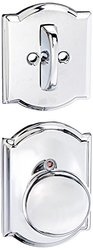 Schalge Bright Chrome Interior Pk Plymouth Knob Dummy Deadbolt Cover Plate