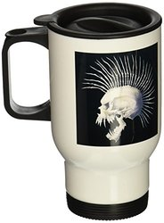 14-Ounce Stainless Steel Mowhawk Skull Travel Mug