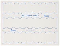 Compulabel Butterfly Tab Markers Labels for Laser and Inkjet Printers, 2 x 1.25 Inches, Permanent Adhesive, 24 per Sheet, 250 Sheets per Carton (332706)