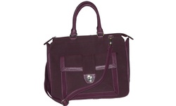 Buxton Women's Newbury Laptop/Tablet Tote Bag - Eggplant