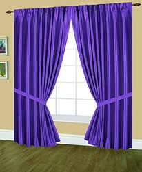Editex Home Textiles Elaine Lined Pinch Pleated Window Curtain, 144 by 63-Inch, Lilac