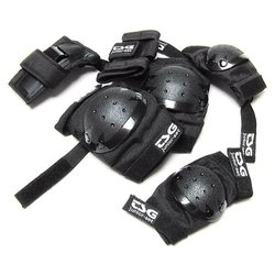 TSG 3-Piece Knee Pad - Black - Size: Junior