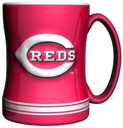 MLB Cincinnati Reds 14-Ounce Sculpted Relief Mug