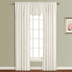 """American Curtain and Home Kathryn 54"""" x 63"""" Window Curtain - White"""
