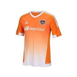adidas Men's MLS Houston Dynamo Replica S/S Jersey - Orange - Size: X-L