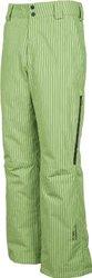 Sunice Men's Atlantis Striped Ski Pants - Lime Stripe - Size: X-Large