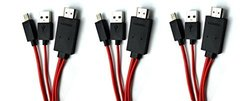 C&E 3 Pack, 6 Feet Micro USB to HDMI Cable for Samsung Galaxy Nexus/Galaxy S2/Galaxy Note/Infuse 4G/HTC Evo 3D/EVO View 4G - Non-Retail Pack,aging - Black, CNE465048