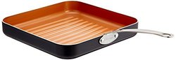 "Gotham Steel 10.5"" Non-Stick Grill Pan with Ti-Cerama Surface - Copper"
