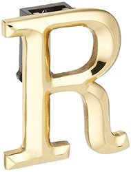 Michael Healy Designs Monogram Letter R Door Knocker - Brass (MHMR1)