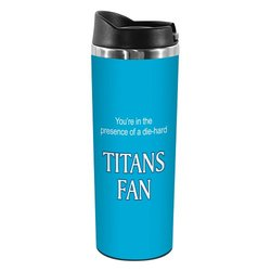 Tree-Free Greetings TT02138 Titans Football Fan 18-8 Double Wall Stainless Artful Tumbler, 14-Ounce