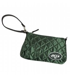 NFL New York Jets Retro Quilted Wristlet, Dark Green