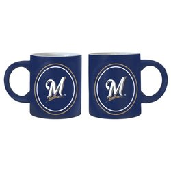 MLB Milwaukee Brewers 14-Ounce Sublimated Warm Up Mug (2-Pack)