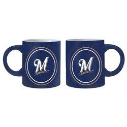 MLB Milwaukee Brewers 14-Ounce Sublimated Warm Up Mug (2-Pack)